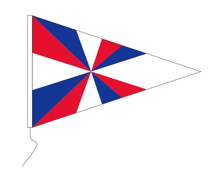 Puntvlag Marine Geus wimpel geusje 30x45cm