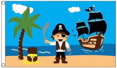 Piratenvlag treasure beach 90x150cm