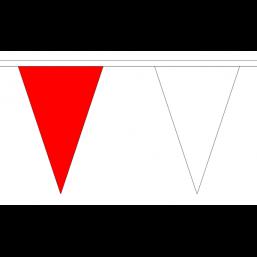 Vlaggenlijn stof Rood/Wit 20m topkwaliteit stof kleuren van o.a. Ajax, PSV en Feijenoord