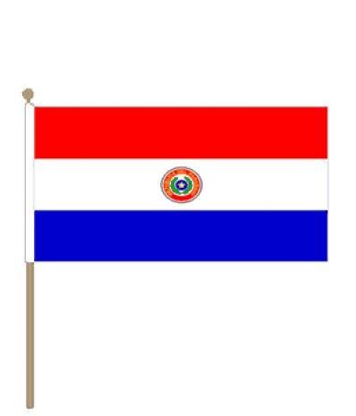 Zwaaivlag Paraguay 30x45cm met stoklengte van 60cm