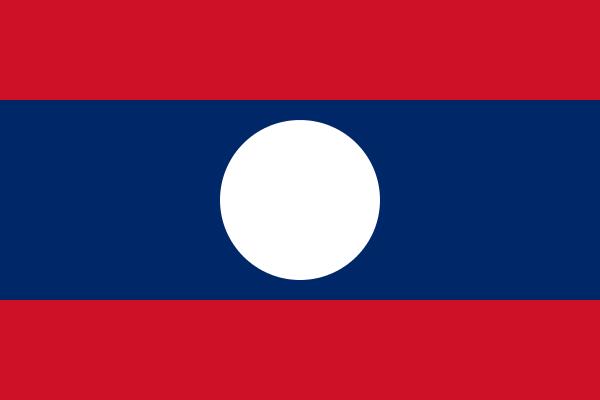 Tafelvlaggen Laos | Laotiaans tafel vlaggetje 10x15cm kopen bij Vlaggenclub