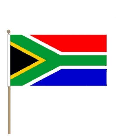Zwaaivlag Zuid Afrika I Zuid Afrikaanse zwaaivlaggen 15x22,5cm stoklengte 30cm
