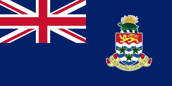 Tafelvlag Kaaimaneilanden met standaard