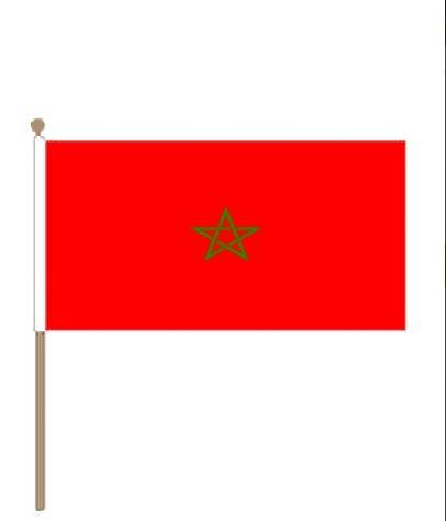 Zwaaivlag marrokko I Marokkaanse zwaaivlaggen 15x22,5cm