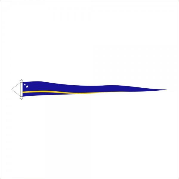 Curaçaose wimpel 30x300cm | Met stokje