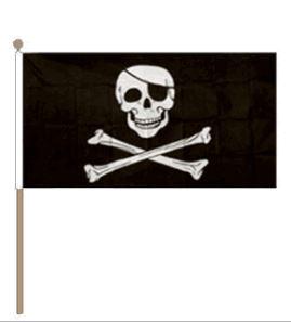 Zwaaivlag Piraat Skull&Bones 30x45cm