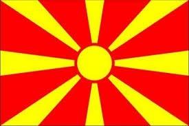 vlag Macedonie 150x225cm | Macedonische vlaggen kopen