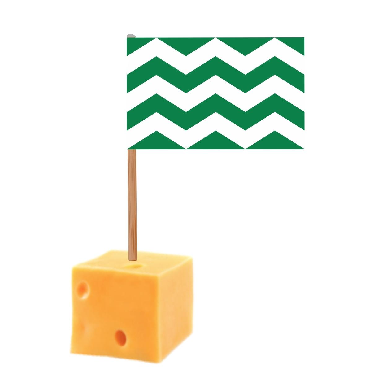 kaasprikkers met Westlandse vlag 50 stuks in blokje