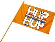 Hup Holland zwaaivlag stok 60cm voor EK WK