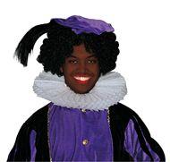 Zwarte Piet pruik luxe