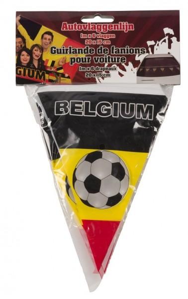 Mini vlaggenlijn België auto of raam