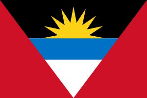 Tafelvlaggen Antigua en Barbuda 10x15cm | Antiguaanse tafelvlag
