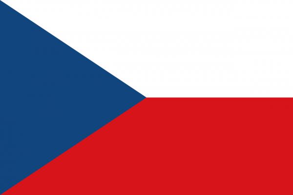 Vlag Tsjechie 100x150cm Glanspoly
