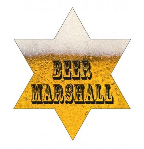 Bier Marshall broche met LED