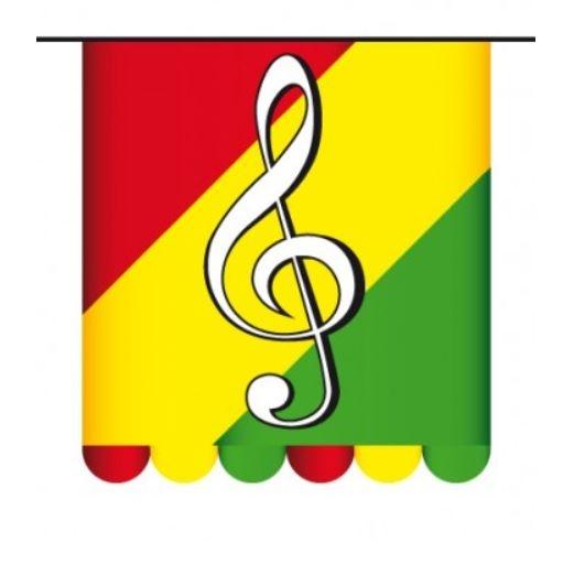 Vlaggenlijn Carnaval Limburg Muzieknoot 3m