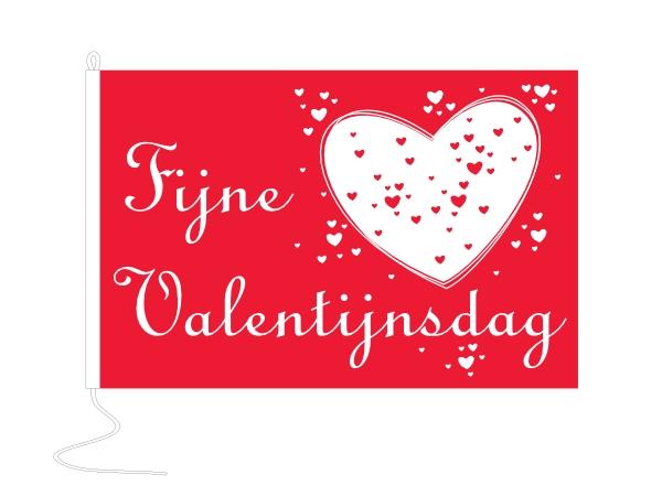 Valentijnsvlag met exclusief ontwerp van Vlaggenclub 150x225