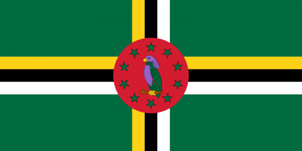 Vlag Dominica 100x150cm Glanspoly