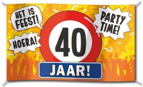 Vlag Verjaardag 40 Jaar 90x150cm Voordelig Kopen Bij Vlaggenclub