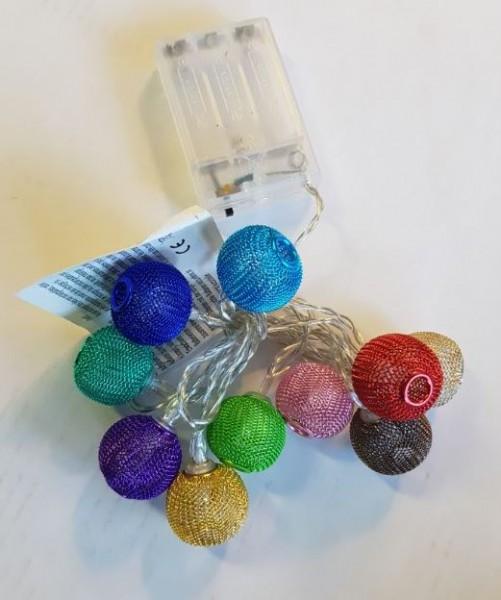 Lichtsnoer vrolijke kleuren, 10 stuks