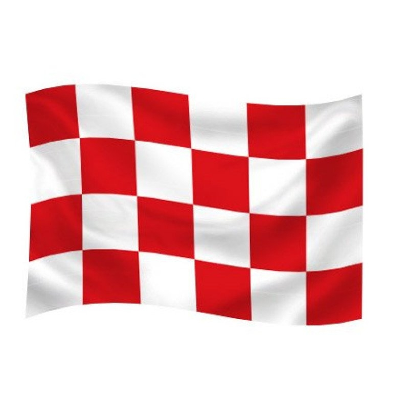 Noord-Brabantse vlag 100x150cm - effect