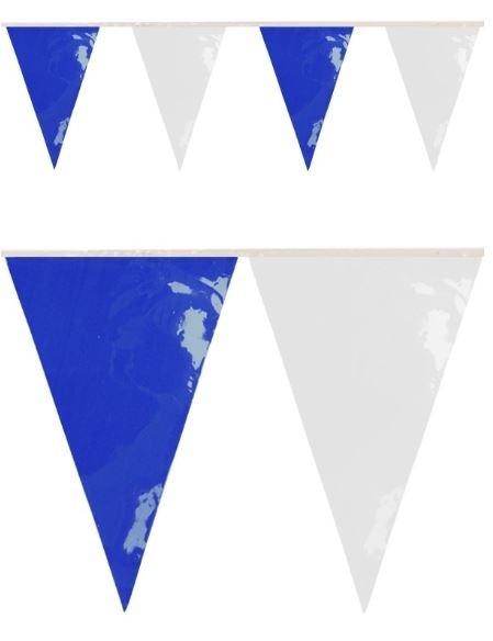 Vlaggenlijn Blauw Wit BRANDVERTRAGEND 10m