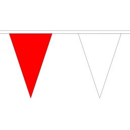 Vlaggenlijn stof Rood/Wit 20m