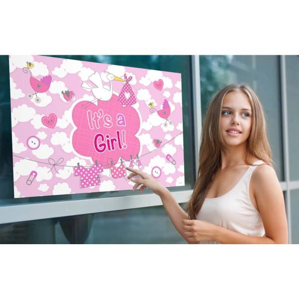 Raamvlag Meisje - It's a girl 60x90cm