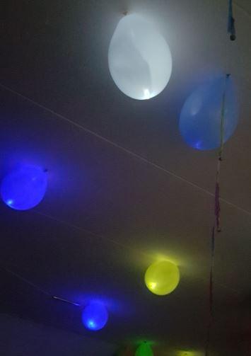 Led ballonnen gemengde kleuren 5 stuks, 15 uur