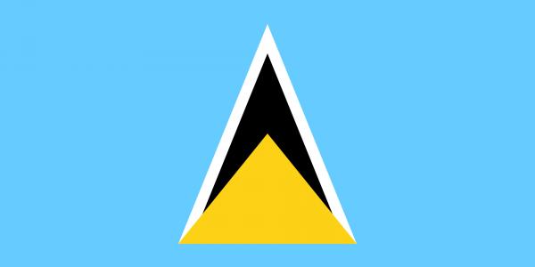 Tafelvlag Saint Lucia met standaard