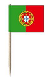 Cocktailprikkers met Portugal vlag, Portugese Kaasprikkers, 50 stuks