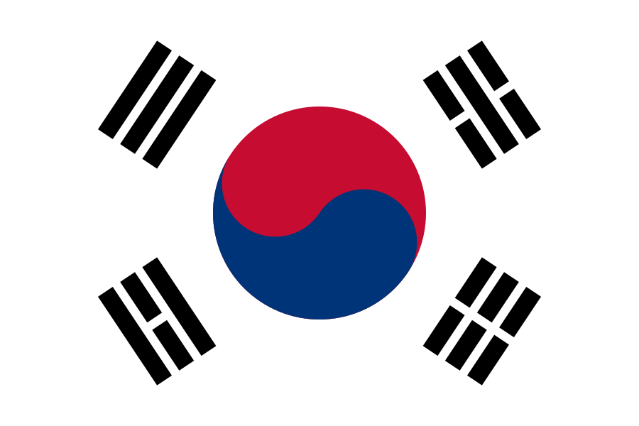 vlag Zuid Korea | Zuid Koreaanse vlaggen 200x300cm mastvlag