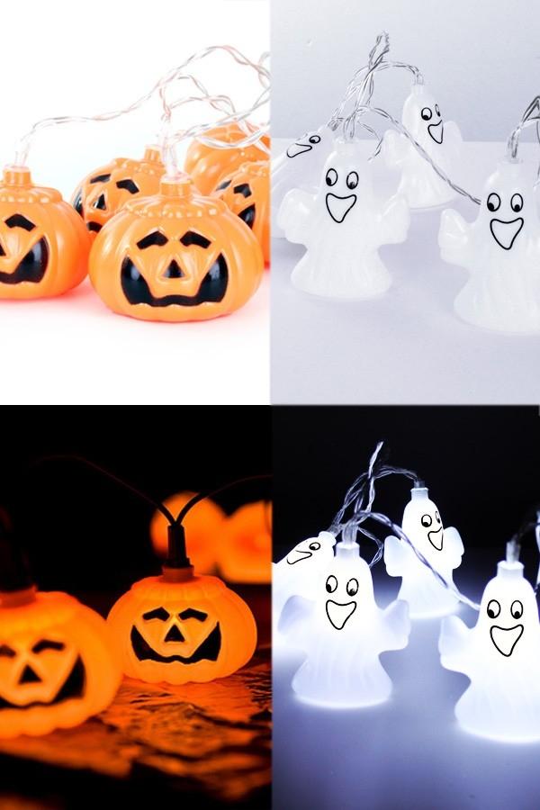 Halloween herfst Sint Maarten pompoen spook ledsnoer