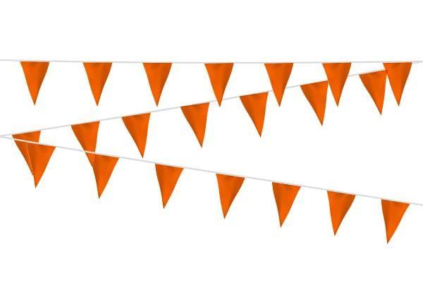Vlaggenlijn Oranje stof 20m, extra zware kwaliteit
