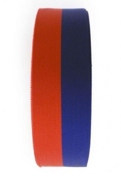 blauw/rood lint voor cadeau of medailles 25mm