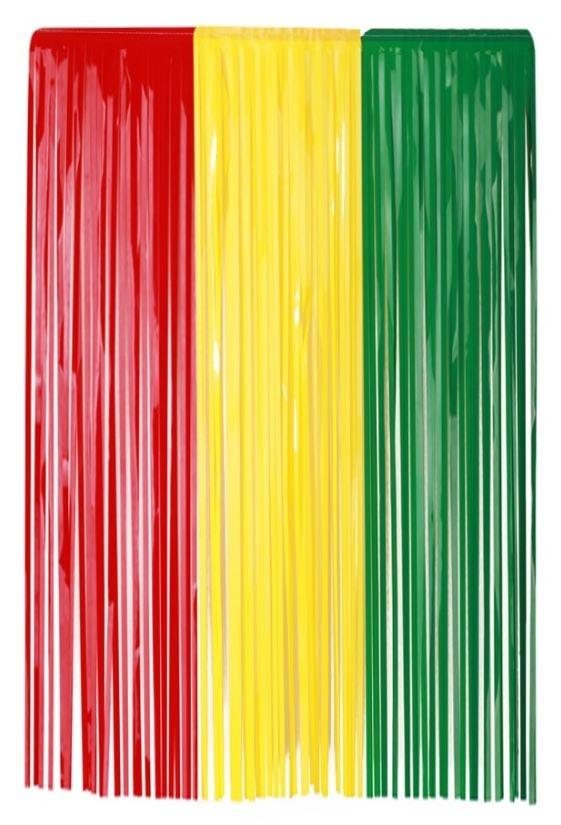 Deurgordijn Carnaval Limburg rood/geel/groen 100x180cm BRANDVERTRAGEND
