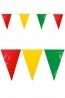 Vlaggenlijn Carnaval rood/geel/groen Limburg BRANDVERTRAGEND 10m XXL