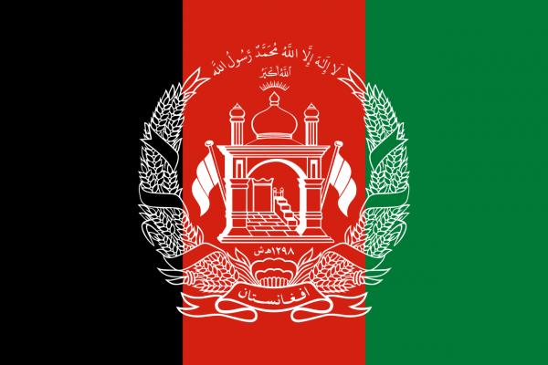Tafelvlag Afghanistan met standaard