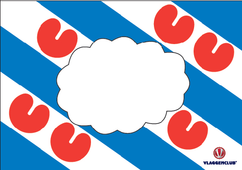 Fanspandoek Friesland 60x90cm