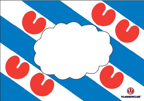 Fanspandoek Friesland 60x90cm