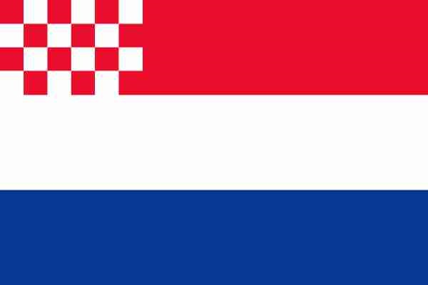 Nederlandse vlag met inzet Noord-Brabantse vlag 70x100cm