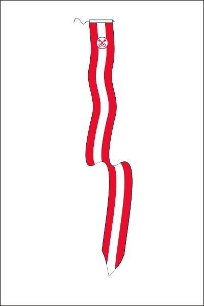 Wimpel Leiden 25x300cm met koord en lusje