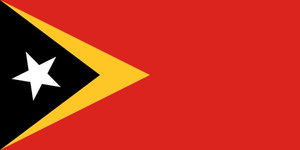 Vlag Oost-Timor 100x150cm Glanspoly