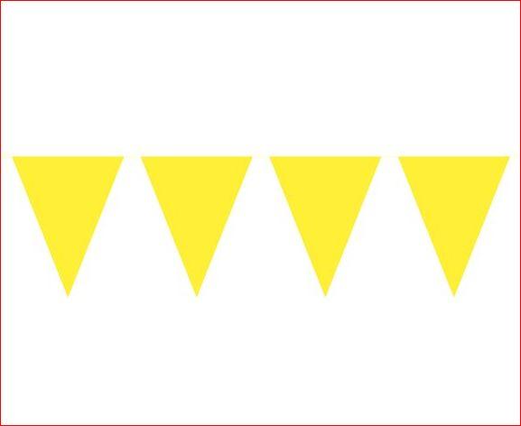 Vlaggenlijn effen Geel 10m