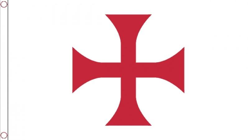 Vlag Ridder Tempeliers met rood kruis 90x150cm Best Value
