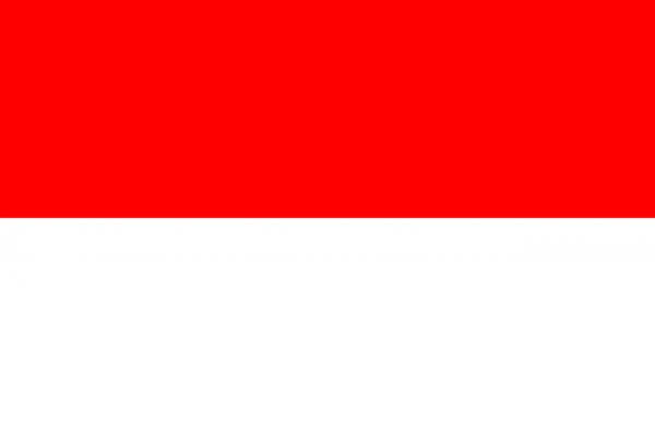 Tafelvlag Indonesie met standaard