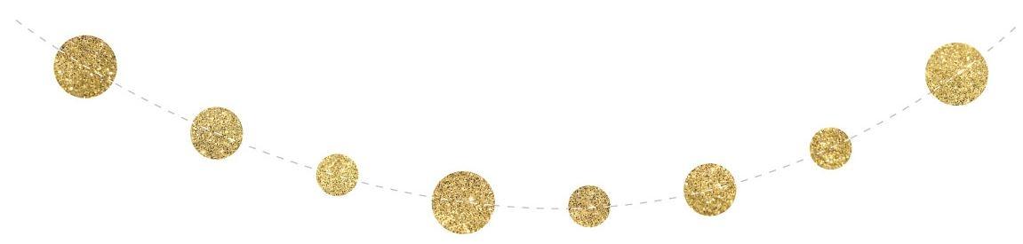 Guirlande Confetti goud slinger 4 meter