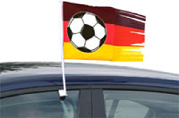 Autovlag Duitsland | Duitse autoraamvlag met voetbal