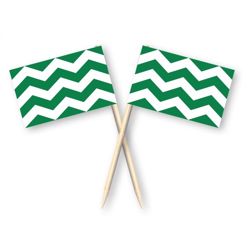 Cocktailprikkers met Westlandse vlag, Vlag Westland Kaasprikkers, 50 stuks