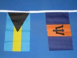 Vlaggenlijn met 50 internationale vlaggen 15m1 pavoiseerlijn