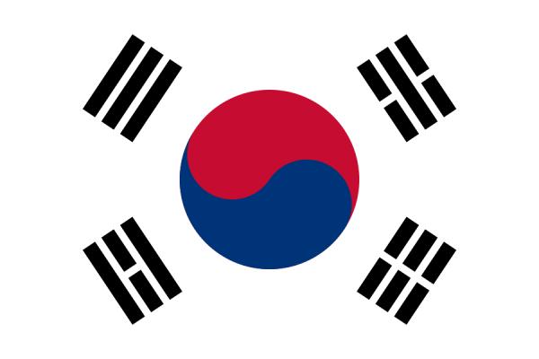 Zuid Koreaanse vlag | vlaggen Zuid Korea 100x150cm gevelvlag